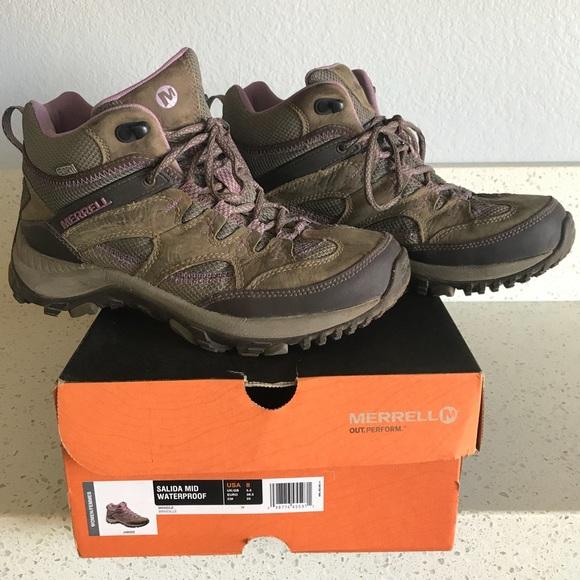 cd09e4f6400 Merrell Salida Mid Waterproof Hiking Boot